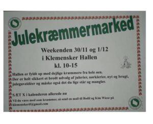 Klemensker julekræmmermarked @ Klemensker Hallen | Klemensker | Danmark