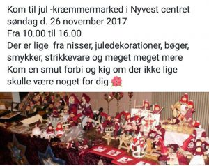 Jule- og kræmmermarked i Nyvest @ Nyvest Hallen | Aakirkeby | Danmark